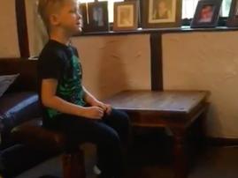 Boy singing Jerusalema