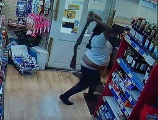 'Hero' sister saves brother by snatching gun from armed robber and hitting him with it