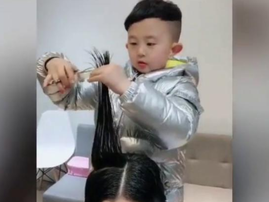 six-year-old hairdresser