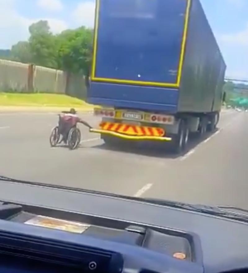 man in wheelchair in Pretoria
