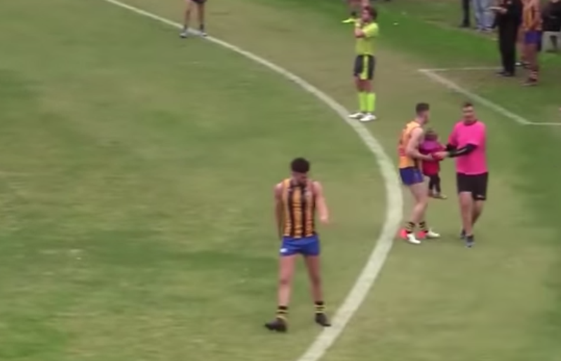 Toddler rescued by Aussie Rules player
