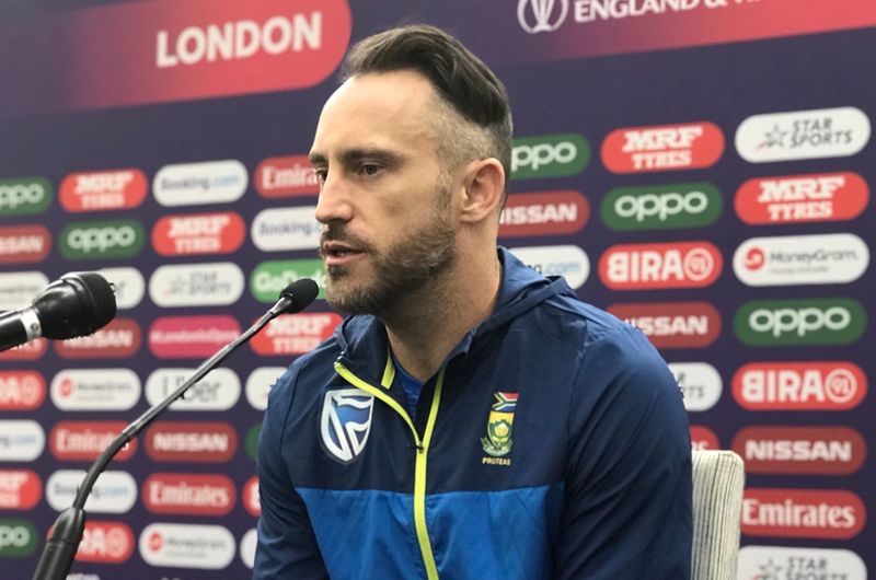 Faf du Plessis at the Oval / Myron Naicker Twitter