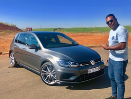 Deon and his Golf 7 R / Supplied