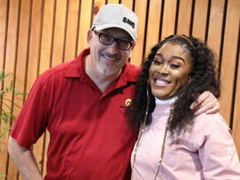 Darren and Lady Zamar in studio / Supplied
