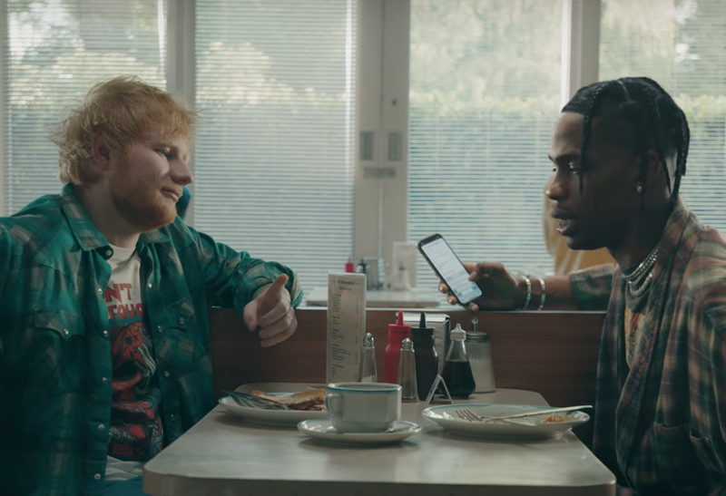 Ed Sheeran & Travis Scott / YouTube