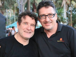 Darren Maule and Johnny Clegg / Instagram