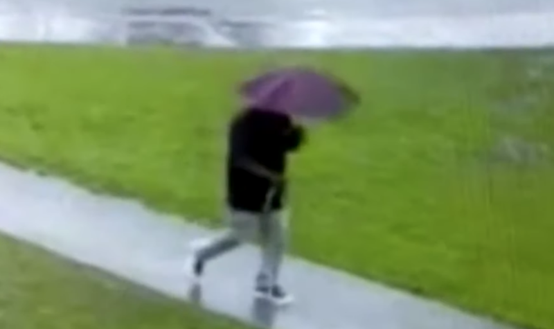 Lucky escape: Man inches away from being struck by lightning / YouTube