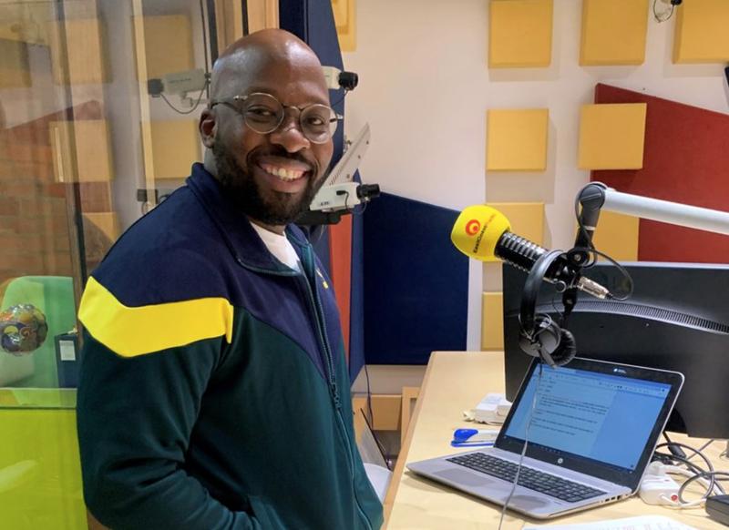 Bongani Mtolo in studio / Nobuntu Swartbooi