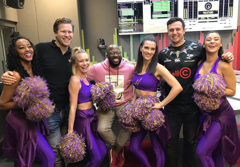 The Hollywoodbets team and the Drive team in studio / Justin James