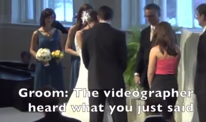 Bride Confesses On Mic At Wedding / YouTube