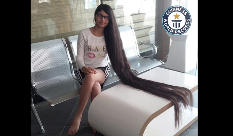 Real-life Rapunzel! Teen makes into Guinness World Record for her long hair / Facebook