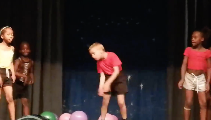 VIDEO: Boy steals the show at school recital with dance moves