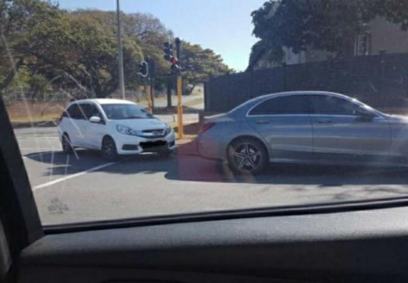 Screenshot of illegal parking in Everything Glenwood Durban Facebook page