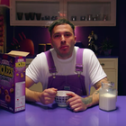 Matthew Mole eats cereal in 'Let Me' / YouTube
