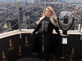 Meghan Trainor at Empire State Building light show / Instagram