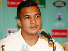 Cheslin Kolbe during the South Africa Springbok media conference / Steve Haag via Hollywoodbets