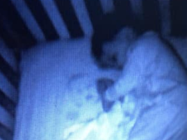 Baby ghost in crib / Facebook