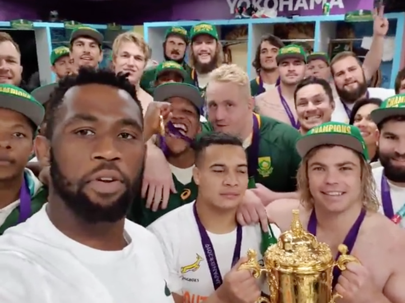 Springboks and Siya Kolisi / Instagram