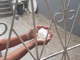 Hailstones / Credit: Nissa Saib / Facebook