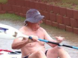 Man on a boat in Widenham / Supplied - Bryan Perkin new