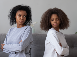 mom and daughter not talking after fight / istock