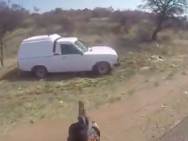 Wild Chase and shooting of stolen vehicle in South Africa