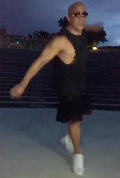 Vin Diesel dancing to Brenda Fassie