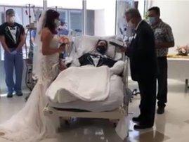 Man marries fiancee in hospital