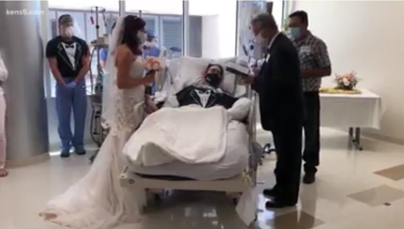 Man marries fiancee in hospital