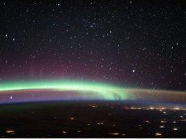 Nasa aurora meets airglow