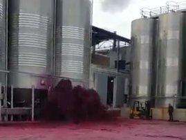 Wine spillage in Spain
