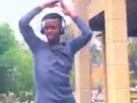 Man dancing in heels