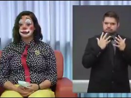 Official dressed as clown for Covid address