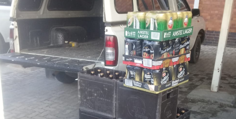 police arrest man for transporting booze in funeral parlour bakkie