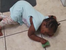 Toddler 'faints'