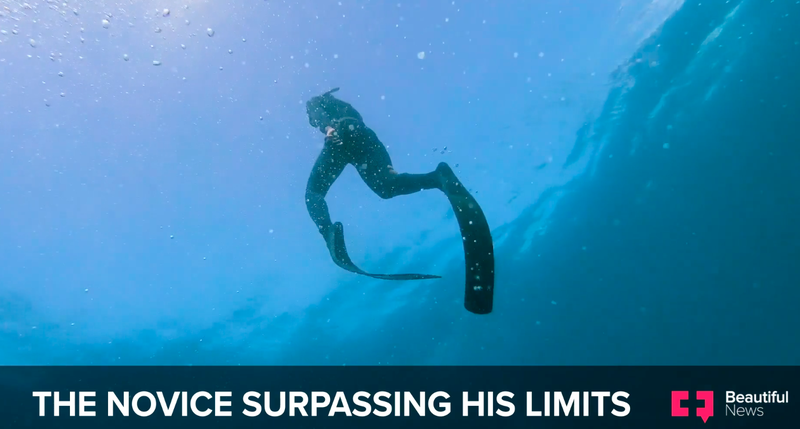 He learnt to swim at 24. Now he's a divemaster inspiring his community