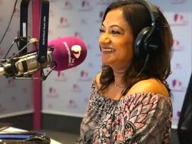 Devi Sankaree Govender in studio at Jacaranda FM