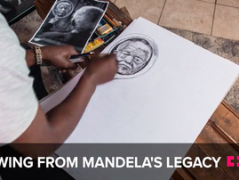 """""""If you're talented, nothing can stop you."""" This artist draws inspiration from Mandela"""