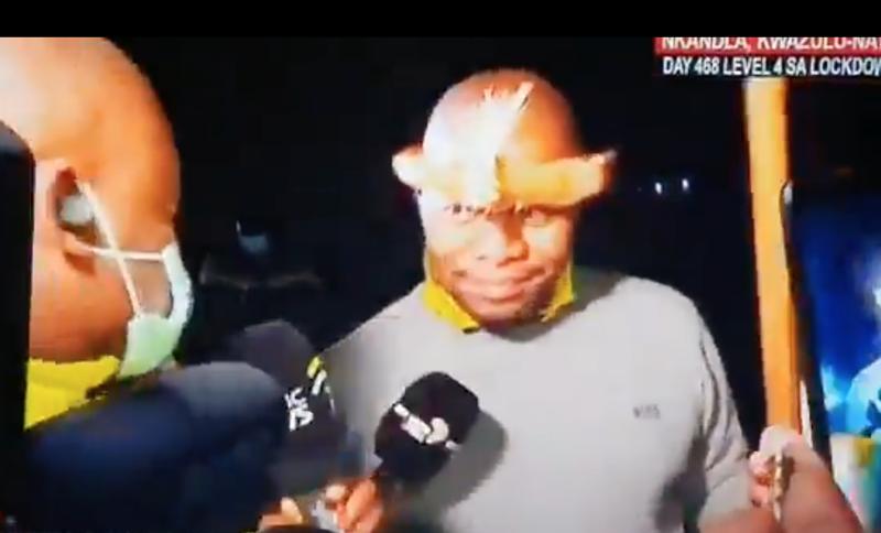 Edward Zuma address press after father's arrest