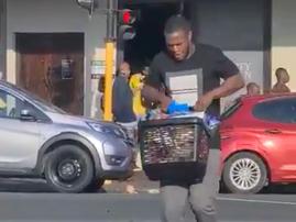 Man with luxury car