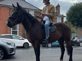 WATCH: Fuel crises in the UK sees a man now commuting on a horse
