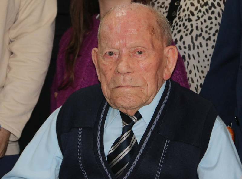 Meet the oldest man in the world - Saturnino de la Fuente García, who is 112 years old.