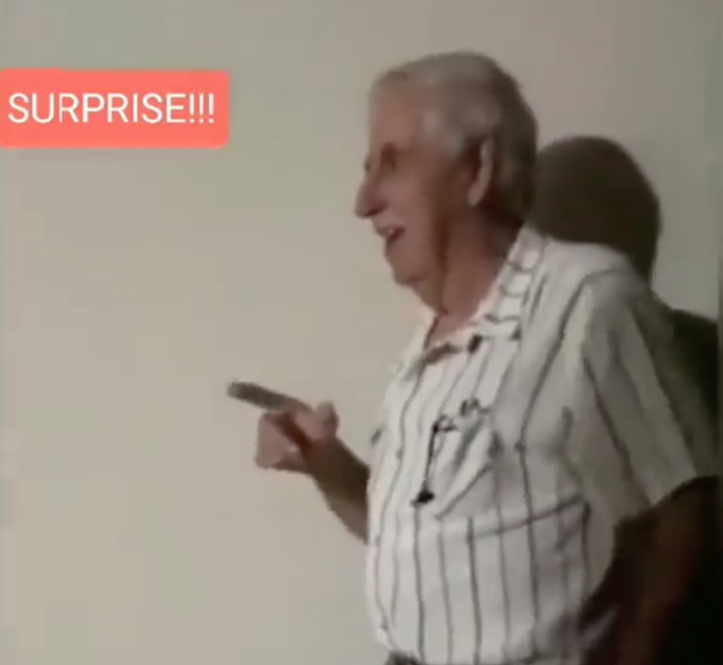 Watch a heartwarming video of a son gifting a father with a VW Beetle.