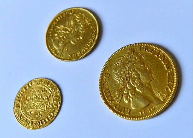 Louis d'Or are pre-revolutionary gold coins. AFP/Georges Gobet