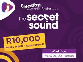 All New weekly Secret Sound R10 000