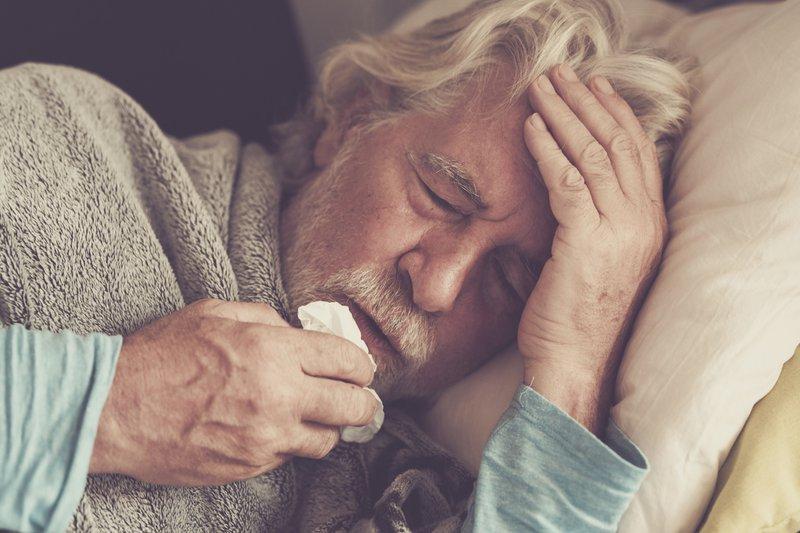 Sick elderly man