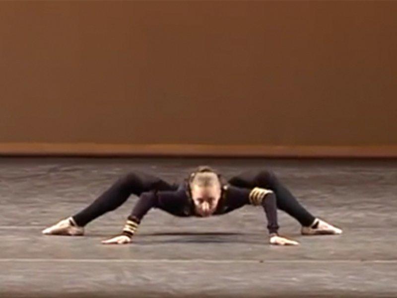 Spider dance by big arse nordicwestern blonde woman - 5 7