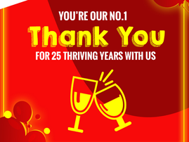 ECR THRIVE AT 25 THANK YOU IMAGE