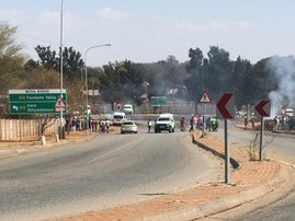 One arrested in Centurion protest