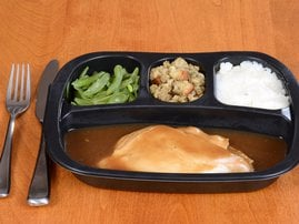 Roast chicken Tv dinner